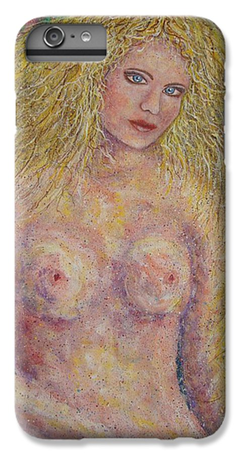 Nude IPhone 6s Plus Case featuring the painting Nude Fantasy by Natalie Holland