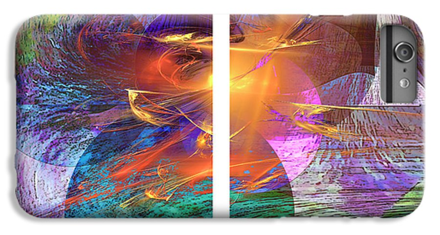 Ocean Fire IPhone 6s Plus Case featuring the digital art Ocean Fire by John Beck