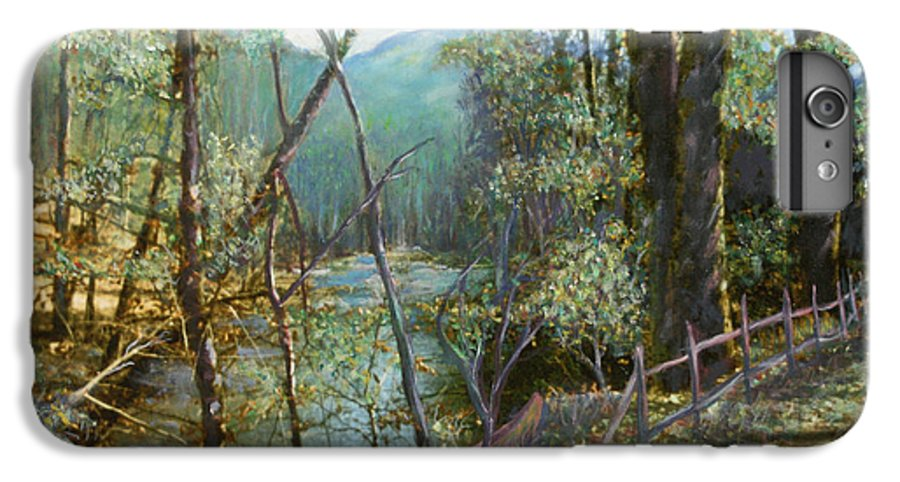 River; Trees; Landscape IPhone 6s Plus Case featuring the painting Old Man River by Ben Kiger