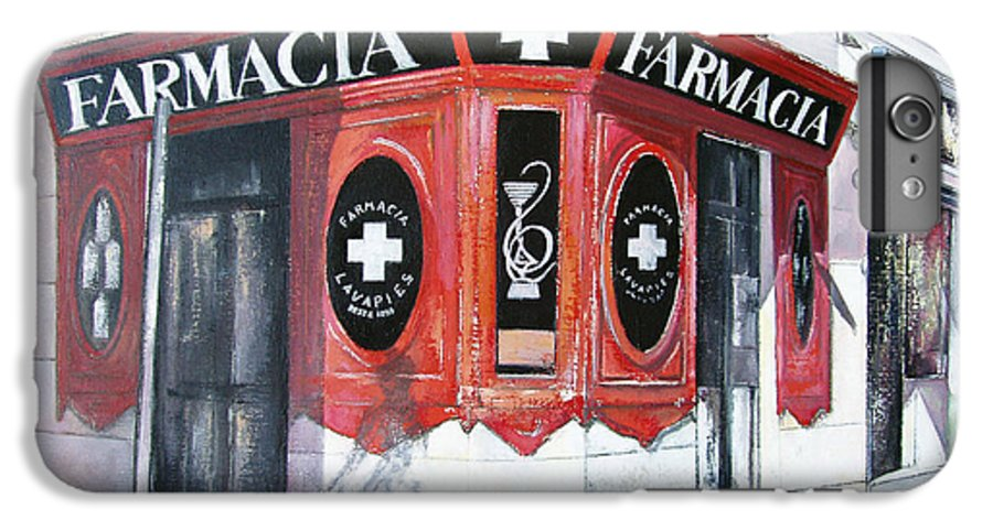 Pharmacy IPhone 6s Plus Case featuring the painting Old Pharmacy by Tomas Castano