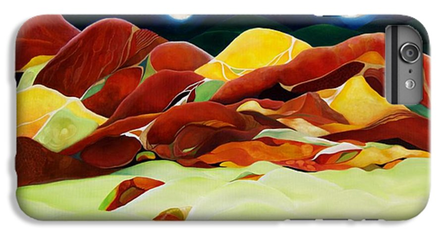 Oil IPhone 6s Plus Case featuring the painting One Step Up From Third by Peggy Guichu