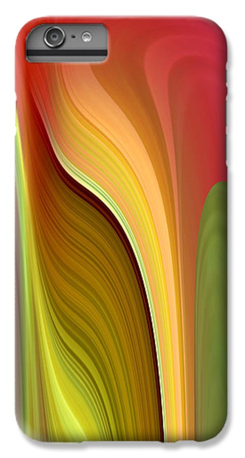 Abstract IPhone 6s Plus Case featuring the digital art Oomph by Ruth Palmer