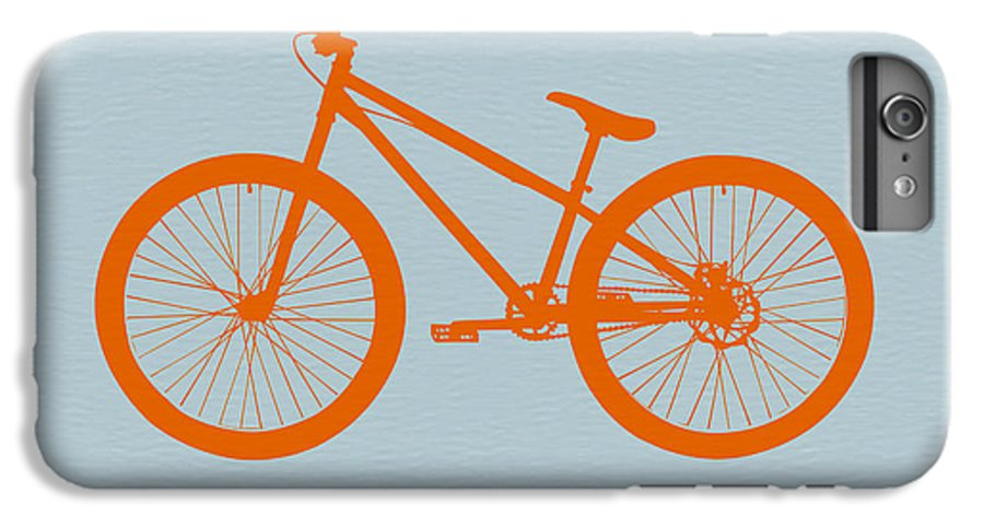 Bicycle IPhone 6s Plus Case featuring the digital art Orange Bicycle by Naxart Studio