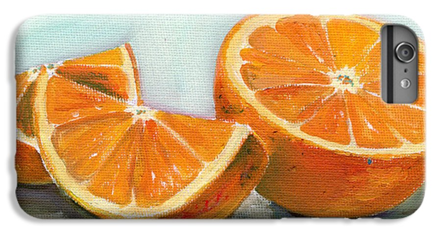 Oil IPhone 6s Plus Case featuring the painting Orange by Sarah Lynch