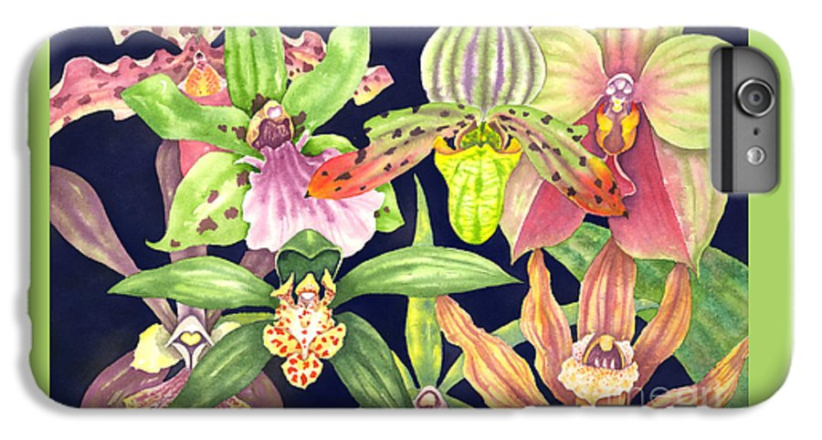 Orchids IPhone 6s Plus Case featuring the painting Orchids by Lucy Arnold