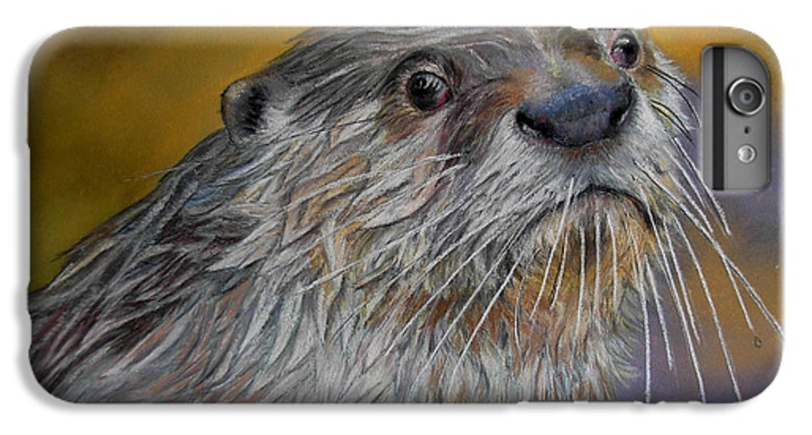 River Otter IPhone 6s Plus Case featuring the painting Otter Or Not by Ceci Watson