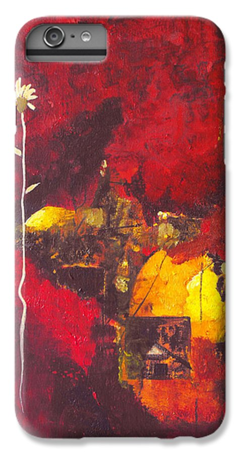 Abstract IPhone 6s Plus Case featuring the painting Over The Broken Fence by Ruth Palmer