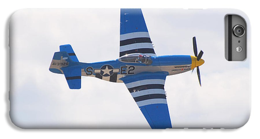 P 51 IPhone 6s Plus Case featuring the photograph P-51 Mustang American Rose by Larry Keahey