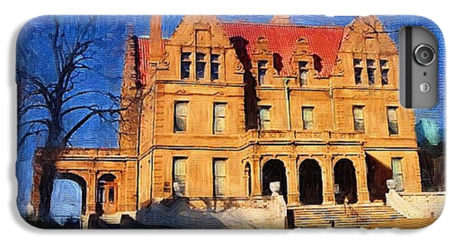 Architecture IPhone 6s Plus Case featuring the digital art Pabst Mansion by Anita Burgermeister