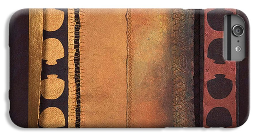 Artistbook IPhone 6s Plus Case featuring the painting Page Format No.4 Tansitional Series by Kerryn Madsen-Pietsch