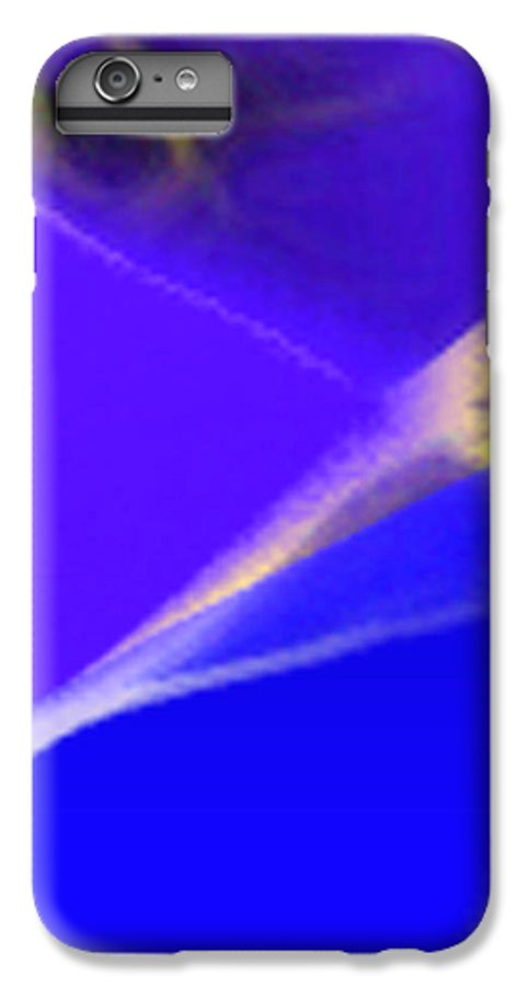 Abstract IPhone 6s Plus Case featuring the digital art panel three from Movement in Blue by Steve Karol