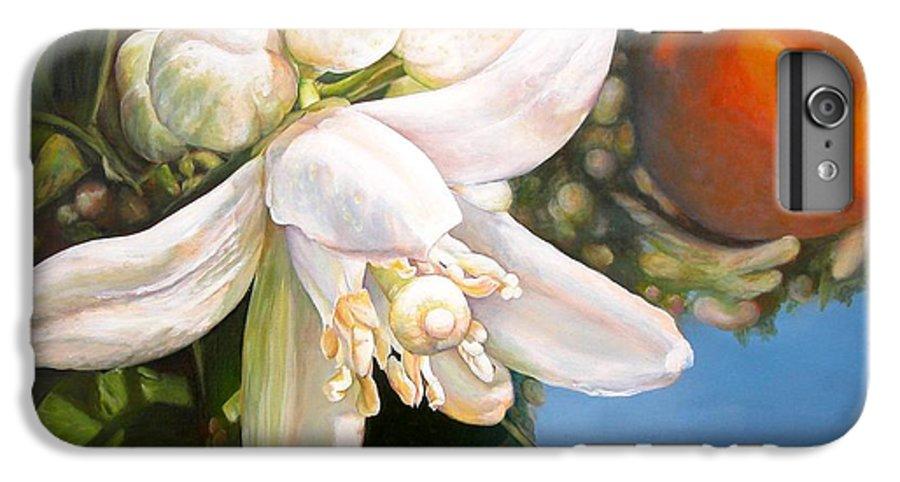 Floral Painting IPhone 6s Plus Case featuring the painting Parfum D by Muriel Dolemieux