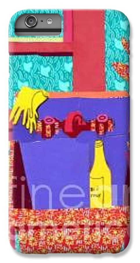 Kitchen Sink IPhone 6s Plus Case featuring the mixed media Parish Kitchen by Debra Bretton Robinson