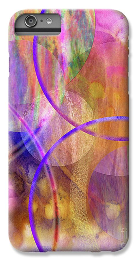 Pastel Planets IPhone 6s Plus Case featuring the digital art Pastel Planets by John Beck