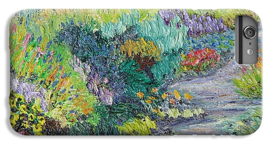 Flowers IPhone 6s Plus Case featuring the painting Pathway Of Flowers by Richard Nowak