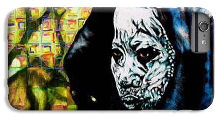 Tribal IPhone 6s Plus Case featuring the mixed media Pathways by Chester Elmore