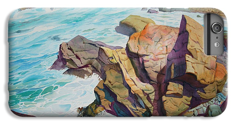 Watercolor IPhone 6s Plus Case featuring the painting Patricks Point by John Norman Stewart