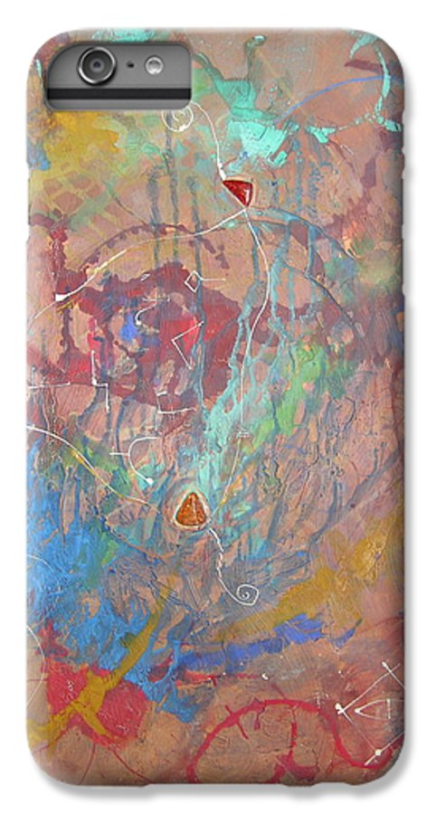 Modern IPhone 6s Plus Case featuring the painting Peace In Motion by Frederic Payet