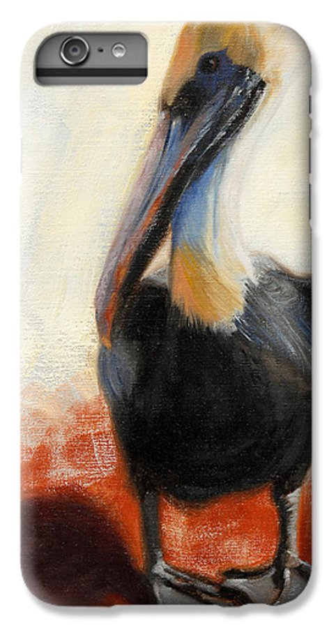 Pelican IPhone 6s Plus Case featuring the painting Pelican Study by Greg Neal