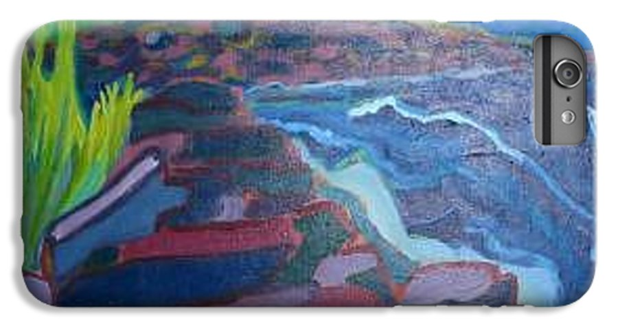 Ocean IPhone 6s Plus Case featuring the painting Pemaquid Cliffs by Debra Bretton Robinson