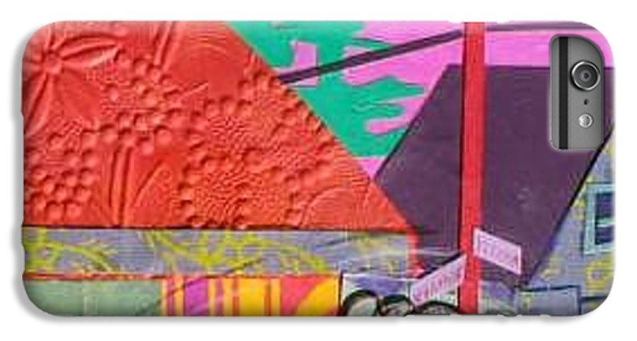 City IPhone 6s Plus Case featuring the mixed media Perham Street by Debra Bretton Robinson