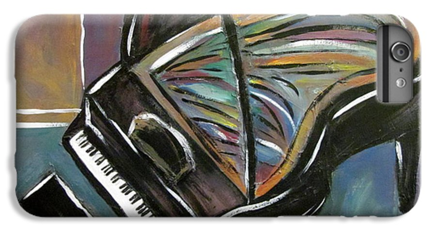 Impressionist IPhone 6s Plus Case featuring the painting Piano With High Heel by Anita Burgermeister
