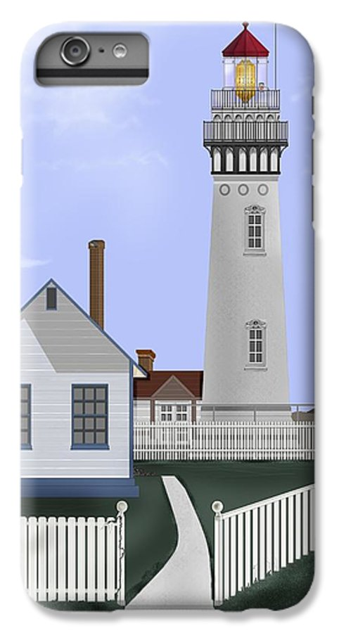 Lighthouse IPhone 6s Plus Case featuring the painting Pigeon Point Lighthouse California by Anne Norskog