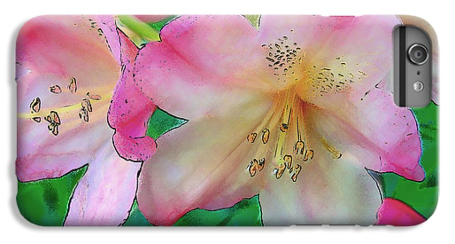 Ebsq IPhone 6s Plus Case featuring the photograph Pink Azalea by Dee Flouton