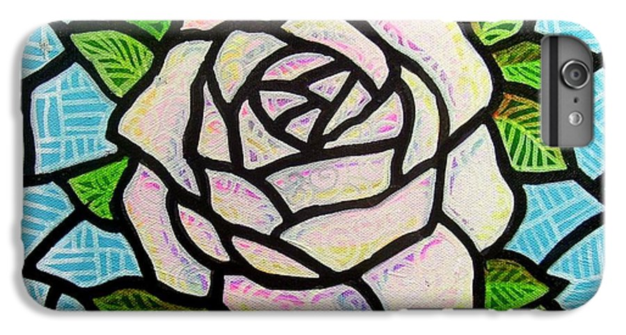 Rose IPhone 6s Plus Case featuring the painting Pinkish Rose by Jim Harris