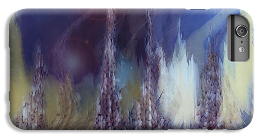 Abstract IPhone 6s Plus Case featuring the digital art Pixel Dream by Linda Sannuti