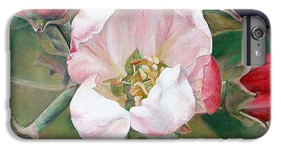 Floral Painting IPhone 6s Plus Case featuring the painting Pommier by Muriel Dolemieux