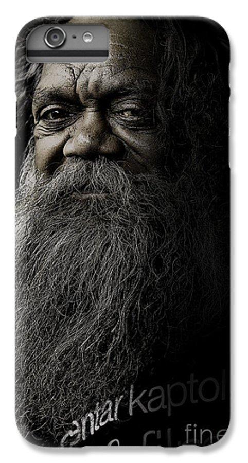 Aboriginal IPhone 6s Plus Case featuring the photograph Portrait Of Cedric by Sheila Smart Fine Art Photography