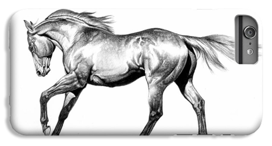 Thoroughbred IPhone 6s Plus Case featuring the drawing Proud by Howard Dubois