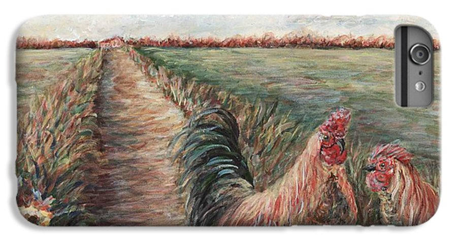 Provence IPhone 6s Plus Case featuring the painting Provence Roosters by Nadine Rippelmeyer