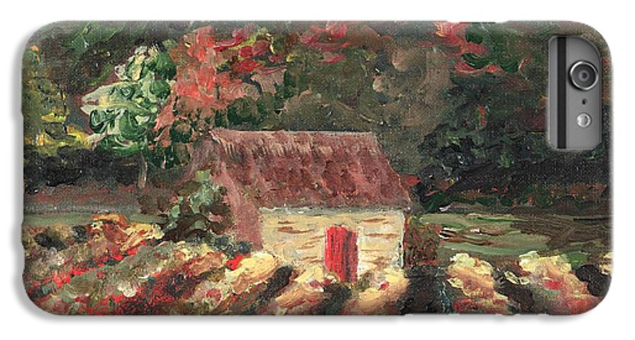 Landscape IPhone 6s Plus Case featuring the painting Provence Vineyard by Nadine Rippelmeyer