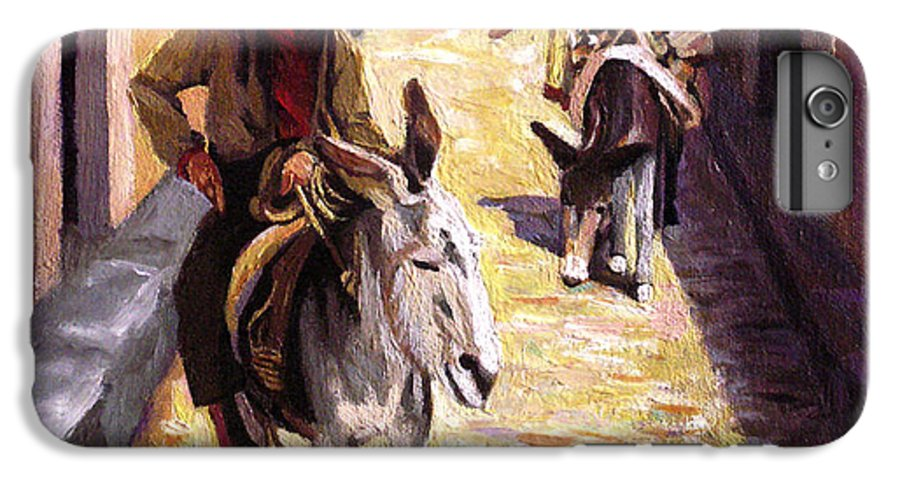 Impressionism IPhone 6s Plus Case featuring the painting Pulling Up The Rear In Mexico by Nancy Griswold