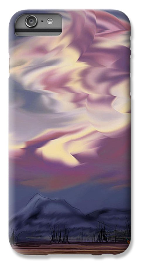 Clouds IPhone 6s Plus Case featuring the painting Purple Mountain Majesty by Anne Norskog