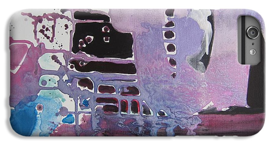 Abstract Paintings IPhone 6s Plus Case featuring the painting Purple Seascape by Seon-Jeong Kim