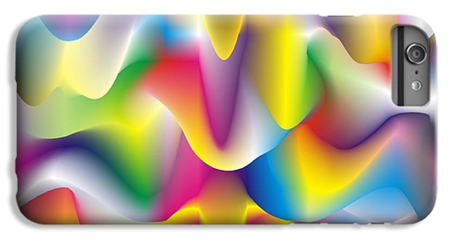 Abstract IPhone 6s Plus Case featuring the digital art Quantum Landscape 1 by Walter Oliver Neal
