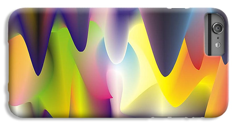 Abstract IPhone 6s Plus Case featuring the digital art Quantum Landscape 6 by Walter Oliver Neal