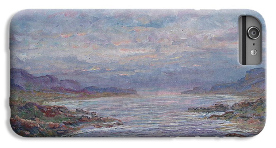 Painting IPhone 6s Plus Case featuring the painting Quiet Bay. by Leonard Holland