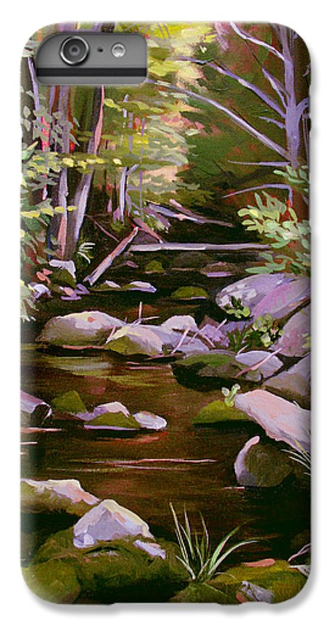 Peoples State Forest IPhone 6s Plus Case featuring the painting Quiet Brook by Nancy Griswold