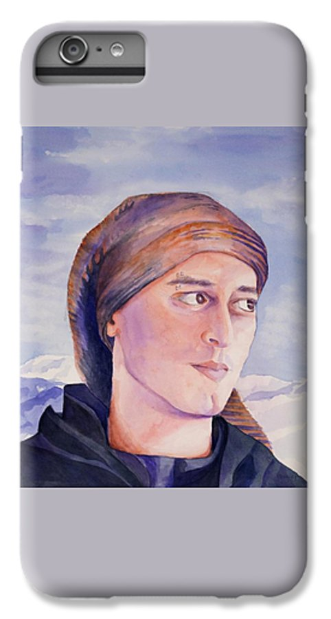 Man In Ski Cap IPhone 6s Plus Case featuring the painting Ram by Judy Swerlick