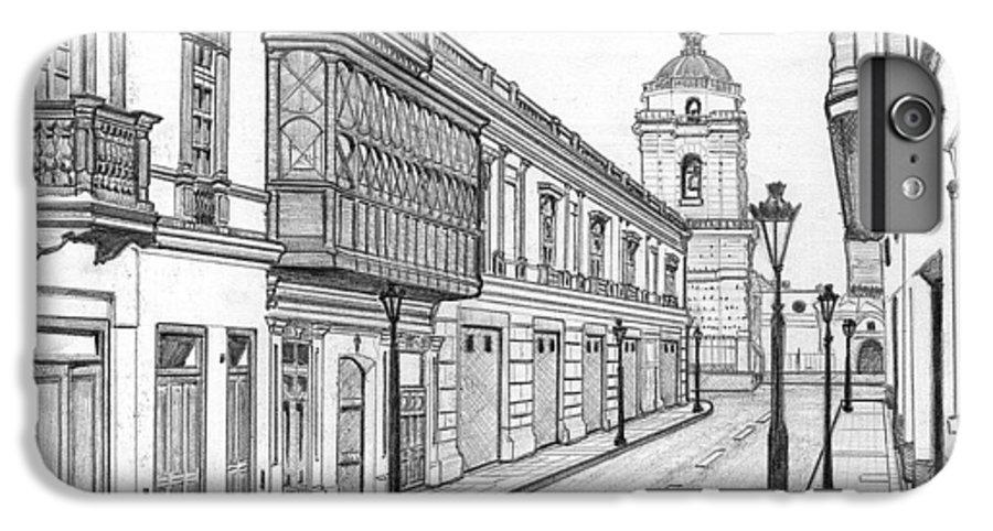 Landscape IPhone 6s Plus Case featuring the drawing Rastro De San Francisco by German Paredes