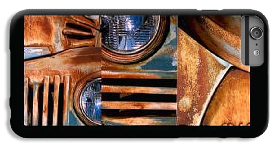 Abstract Photo Of Chevy Truck IPhone 6s Plus Case featuring the photograph Red Head On by Steve Karol