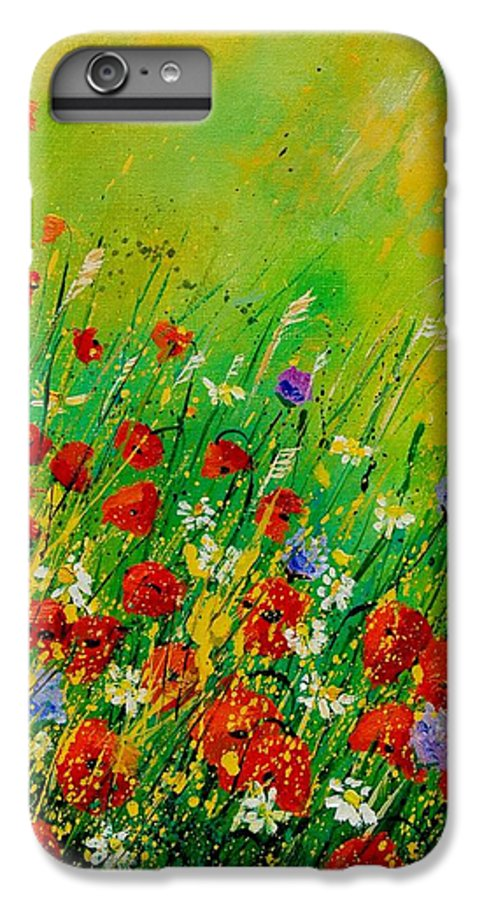 Flowers IPhone 6s Plus Case featuring the painting Red Poppies 450708 by Pol Ledent