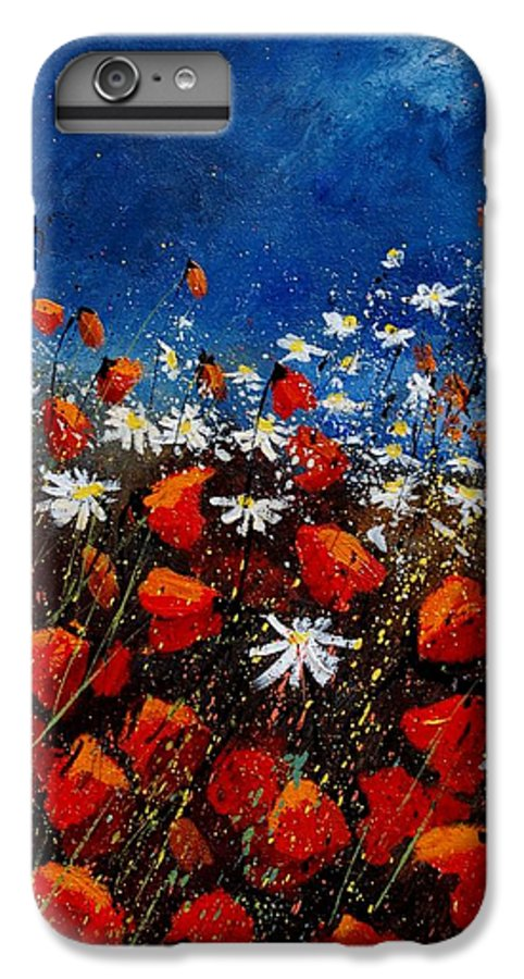 Flowers IPhone 6s Plus Case featuring the painting Red Poppies 451108 by Pol Ledent