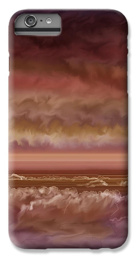 Sunset IPhone 6s Plus Case featuring the painting Red Sky At Night Sailor Delight by Anne Norskog