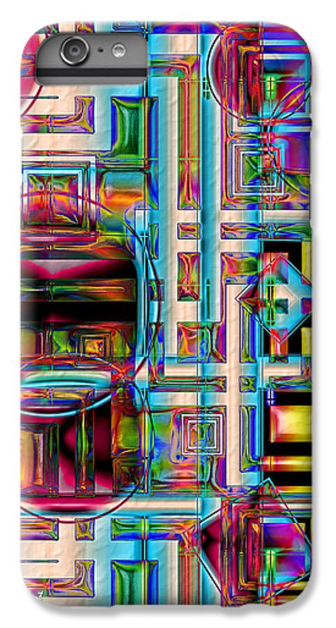 Abstract Shapes Color Geometric IPhone 6s Plus Case featuring the digital art Refinement by Carolyn Staut