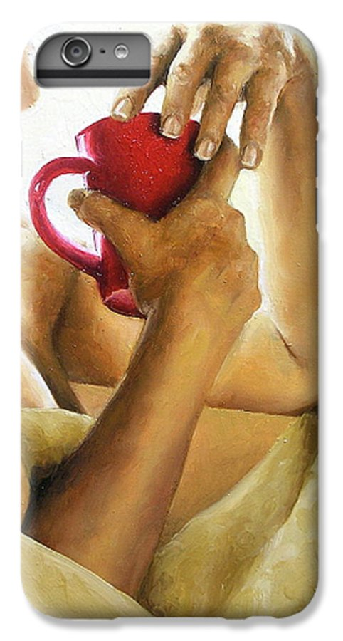 Nude IPhone 6s Plus Case featuring the painting Reflections 3 by Trisha Lambi
